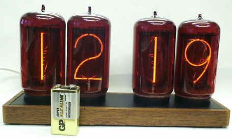 picture of 50mm tall nixie tubes with numbers on them